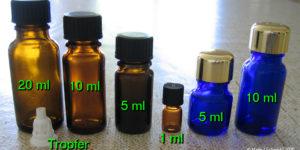 5 ml brown bottles for storing essential oils