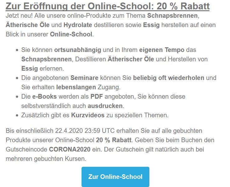 Online-School Rabatt